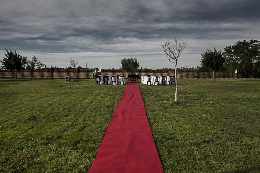 Alfombra roja boda