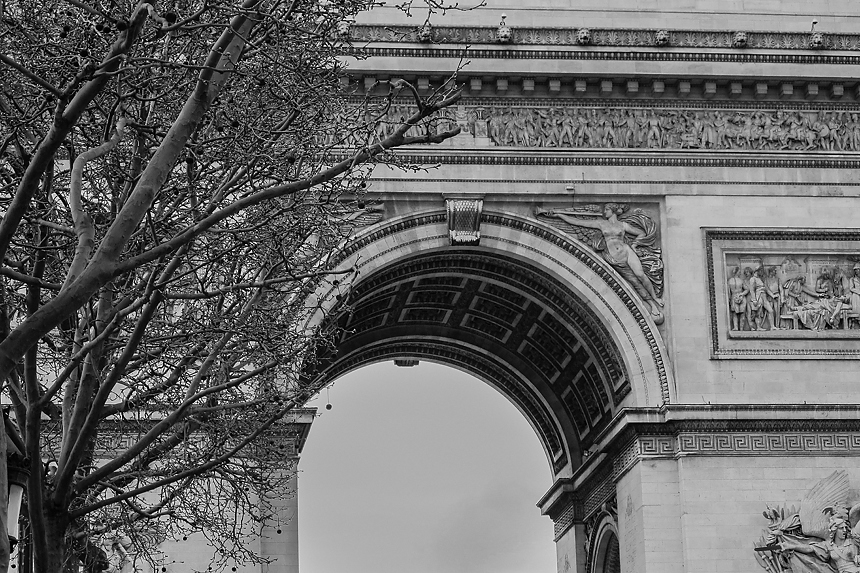 fotografia viaje paris detalle Arco del triunfo